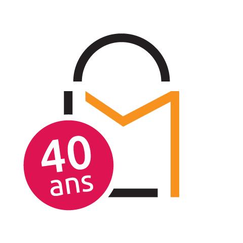Logo 40 ans Carrefour Lac Mégantic